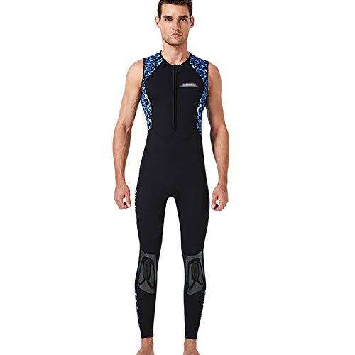 HJFGIRL Traje de Neopreno para Hombre 3 Mm,Protección contra El Frío Sin Mangas, Traje de Baño de Neopreno de Invierno Buceo Cálido Traje de Baño de Surf,A-Medium