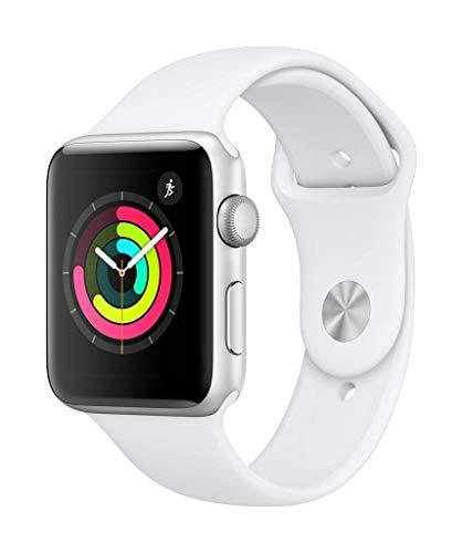 Apple Watch Seires 3 42mm (GPS) - Aluminiumgehäuse Silber Weiß Sportarmband (Generalüberholt)