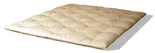 Futon Shiatsu oder Shiatzu Matratze 140x200, aus 100% Reiner Baumwolle, ca. 4-5 cm hoch, faltbares Futon, auch für Massage, Yoga oder Camping. + Transportbeutel Fuer Futon Shiatsu
