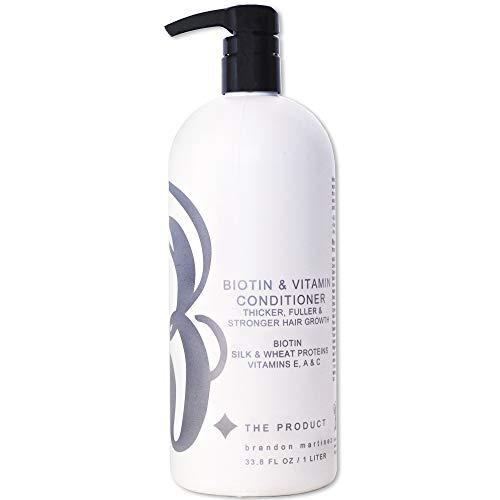 Biotine Vitamine Haargroei Conditioner- (Hoge Potentie) Biotine Conditioner Voor Snelste Haargroei, Anti Haaruitval Conditioner, Vitaminen E, A en C, B. HET PRODUCT (33.8oz.)