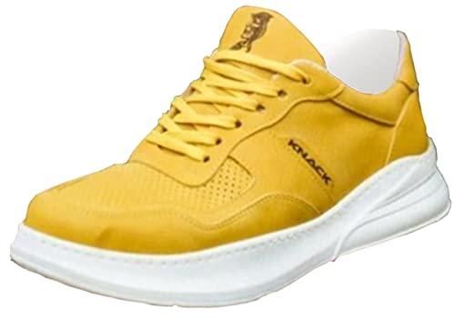 Knack 707 - Zapatos para hombre, estilo casual, para uso diario, ligeros, transpirables, para caminar, color amarillo, Amarillo, 43.5 EU