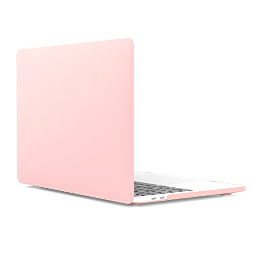 MoKo Case for MacBook Pro 13 2018/2017/2016, Slim PC Matte Frost Hard Shell Protective Cover for 2018/2017/2016 Macbook Pro 13 Inch A1706 / A1708 (with/without Touch Bar), Pink