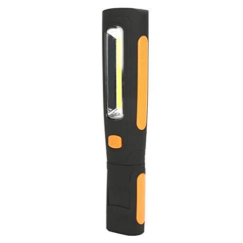 Qqmora Linterna LED con Gancho magnético COB Lámpara de Trabajo electrónica Linterna Linterna de Carga LED Duradera Ajustable Linterna con Gancho magnético portátil para Camping, Senderismo(Orange)