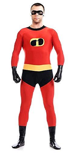 Disfraces increíbles para adultos - hombre - unisex - traje elástico - calzoncillos - máscara - disfraces de mujer - halloween - carnaval - cosplay - talla l - idea de regalo original cosplay