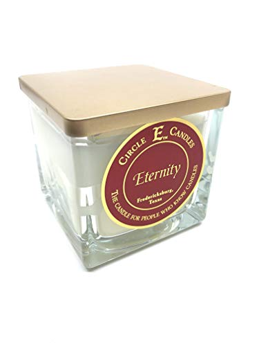 Circle E Eternity Scented Jar Candle | Size 22oz | 110 Hour Burn Time | 2 Wicks | Wax Color White | Glass Jar | Made in USA