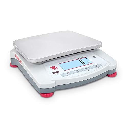 OHAUS Balanza portátil NVT6400M Navigator, capacidad de 6400 g, legibilidad de 2 g, 174 mm x 230 mm Tamaño de la bandeja