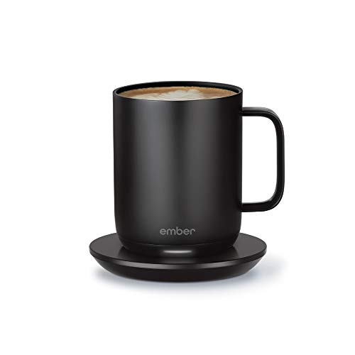 LONGER LASTING BATTERY: Extended battery life on your temperature control mug keeps your drink perfectly hot for up to 1.5 hours on a single charge—or all day on the included, newly redesigned charging coaster. Choose the exact temperature you prefer...