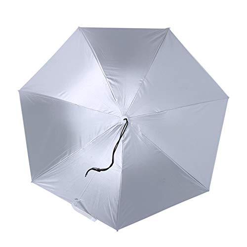 Wifehelper Sombrero Anti-UV montado en la Cabeza Protector Solar Paraguas de Pesca Sombrilla Ajustable a Prueba de Lluvia Impermeable(# 1)