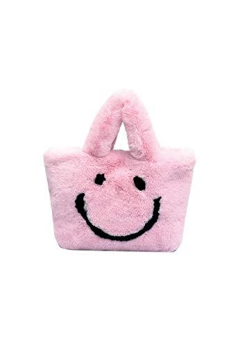 Ulisty Donne Inverno Pelliccia ecologica Borsa a tracolla felpa borsetta Cinturino a catena Borsa a tracolla Totalizzatore rosa