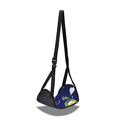 JINTD Hausübungsgeräte, Home Büro Entspannend einstellbare tragbare Füße Rest Kissen Fußstütze Flugzeug Fußhammock Fitness zur Übung (Color : Black)