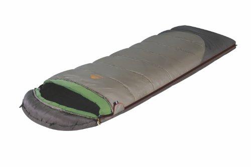 Alexika Unisex-Adult Schlafsack Summer Plus, rechte Reißverschluss, grün-grau/grün
