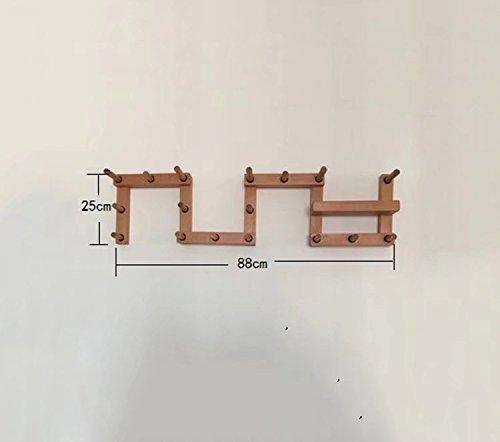 Cintre en Bois Massif/Porte-Manteau assemblé, Libre de Changer la Forme (Couleur: Couleur Bois; Taille: 88 * 25cm)
