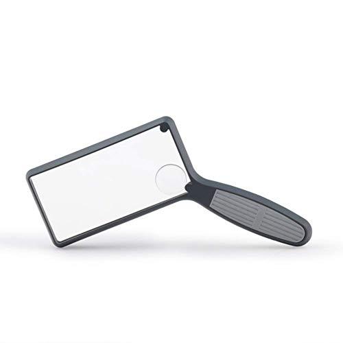 GENFALIN De Mano de Cristal Cuadrado con 2,5X magnificación de 4X, for niños Viejo Lectura Lupa Sellos Herramienta de identificación de joyería