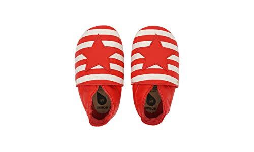 Bobux Soft Sole Star & Stripes_Suela Blanda para Bebes y gateadores (Poppy, 3_Months)