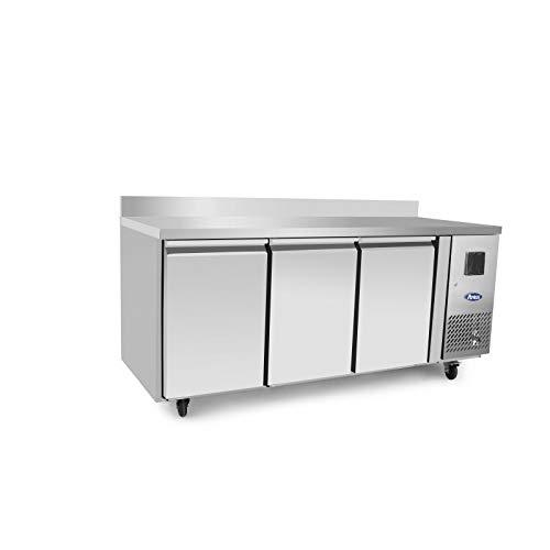Table Réfrigérée Négative 3 Portes GN1/1 - Avec Dosseret - Atosa - R290 3 Portes Pleine