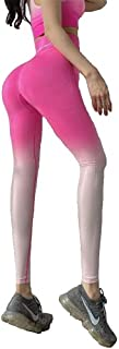 Yoga Pants High Waist Leggings Full Length Tights Workout Striped Alphabet Fitness Sports Scrunch Butt Lift Stretchable fo...
