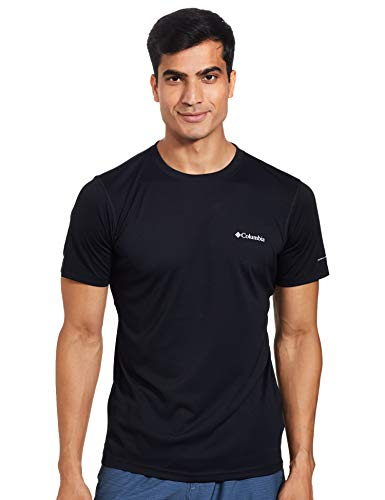 Columbia Herren Zero Rules Technisches Kurzärmeliges T-Shirt, Black, L