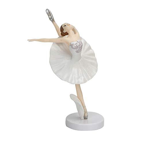 EXCEART Ballet Gril Estatuilla Bailarina Niña Cupcake Topper Escultura de Resina para El Hogar Decoración de Escritorio Boda Fiesta Regalo Hogar Figura Decorativa