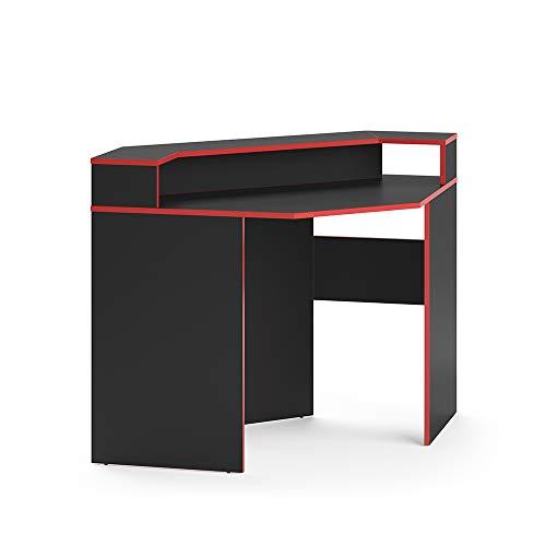 Vicco Gaming Desk Schreibtisch Kron Gamer PC Tisch Computertisch Bürotisch (Ecktisch)