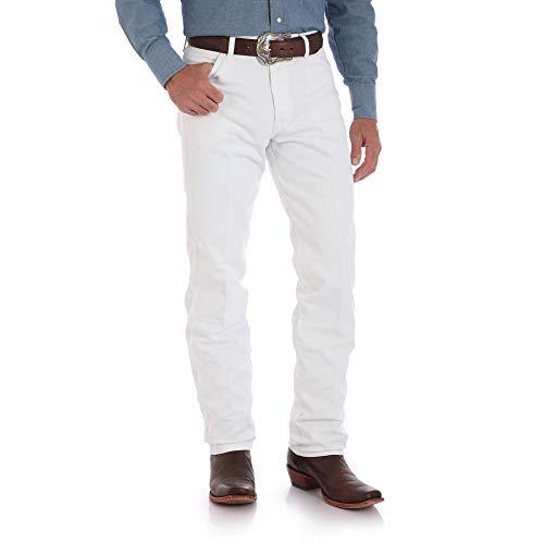 Wrangler Men's 13MWZ Cowboy Cut Original Fit Jean, White, 35W x 34L