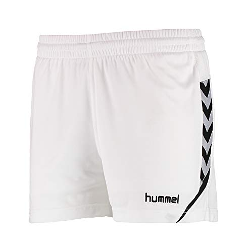 hummel Damen Auth Charge Poly Shorts Wo White, XS