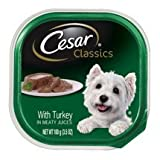6 Individual Trays of CESAR Canine Cuisine Wet Dog Food with Turkey, 3.5 oz. ea