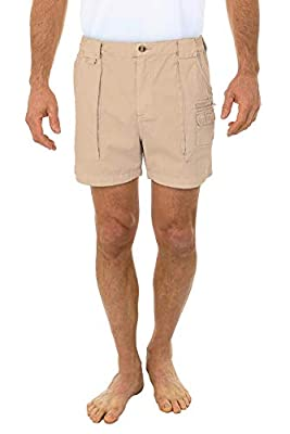 Beach Outfitters Men's Walking Cotton Shorts, Sand, 40