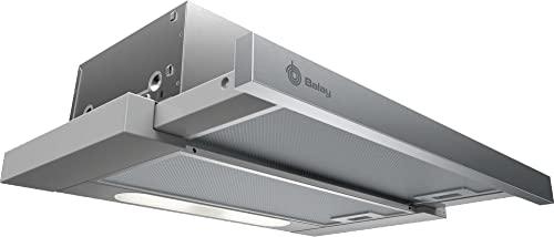 Balay 3BT263MX - Campana Extractora, Telescópica, Extraplana, 60 cm, Color Gris Metalizado