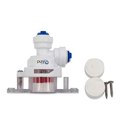 PureOne Leak-01 Quick-Fitting Wasserstopventil - 1/4 auf 1/4 Zoll Schlauch. Schlauch-Zubehör für Umkehr-Osmose, Wasser-Installationen oder Kühlschranksysteme