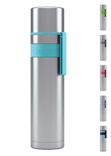 BODDELS Isolierflasche HEET 700 ml - Deine Thermoskanne für unterwegs (Türkisblau)