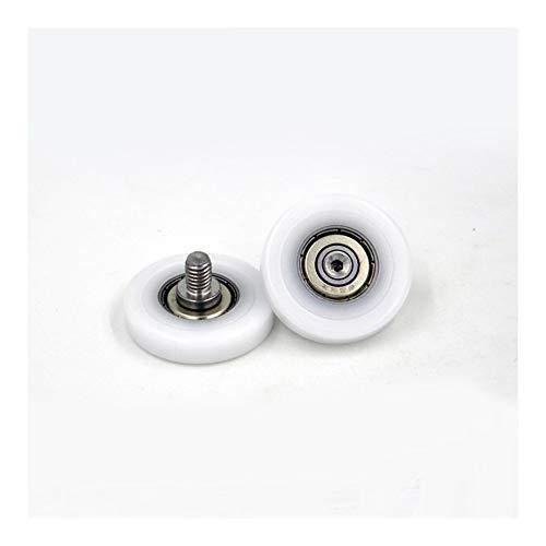 HLY Trading 626ZZ Tornillo Polea de cojinete OD 33 mm Pom 626 M6 * 8 Puertas y Ventanas Roller Mute Rueda de plástico Cubierto Cojinetes (2 PCS) Rodamientos de Bolas
