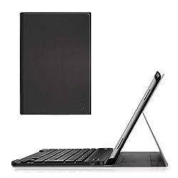 Cet étui avec clavier est seulement compatible avec tablette Samsung Galaxy Tab A 10.1 pouces 2016 SM-T580/T585. ***PAS pour Samsung Tab A 10.1 2019 ou tout autre modèle d'appareil. Clavier Galaxy Tab A 2016 AZERTY français détachable (Pour mettre le...