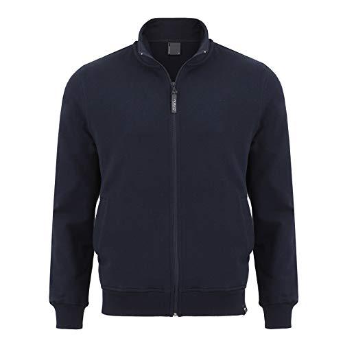 IMAKO® Herren sportlicher Herren Kapuzenpullover Kapuzenjacke Hoody Sweatshirt, dunkelblau, Gr. L