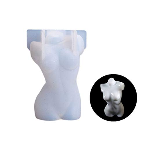 Molde de silicona para velas de torso de mujer 3D, para cuerpo humano masculino y femenino, para hacer velas, resina epoxi, yeso, decoración de estatua de bricolaje