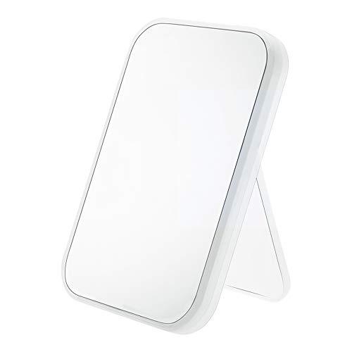 LED mirror Miroir de Maquillage Pliable Miroir de Maquillage carré avec Angle réglable Librement, Cadre de Miroir épaissi, Bords Lisses et sans Rasage, Blanc