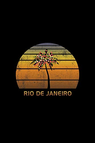 Rio De Janeiro: Christmas Journal Notebook With Retro Sunset. Complete Shopping Organizer Holiday Food Meal Party Planner Budget Expense Tracker With Soft Cover 6 x 9, 120 Pages.