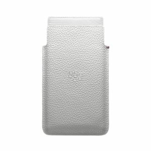 BLACKBERRY LEAP LEATHER POCKET WHITE, ACC-60115-002 (WHITE)