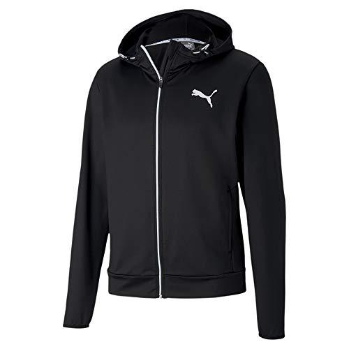PUMA Herren RTG Full-Zip Trainingsjacke Schwarz, Weiß Jacken, L