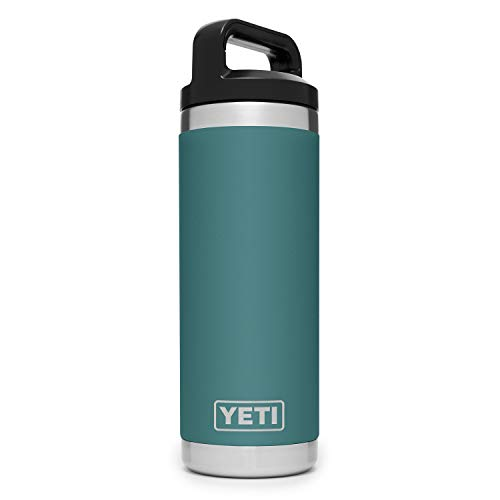 YETI (イエティ) Rambler 18oz Vacuum Insulated Stainless Steel Bottle with Cap River Green [並行輸入品]