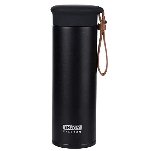 Very cost-effective 450 ml Aislado al vacío Botella de agua caliente de la taza de acero inoxidable Aislamiento de agua Taza térmica Té Tela de café Toma de café Botella de agua para deportes al aire