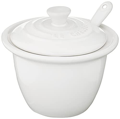 Le Creuset Stoneware Condiment Pot with Spoon