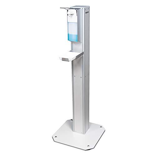 eepos mobile Desinfektionssäule professional Desinfektionsmittelspender inklusive Auffangschale und Spender 4-seitig bestückbar ideal für Gewerbe und Industrie