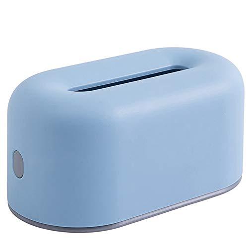 LXB Caja de pañuelos de plástico, contenedor de pañuelos Cuadrado para el hogar, Caja de pañuelos con Tapa Rectangular, Caja Boutique, Organizador del hogar, Cocina, para baño, Dormitorio, Sala