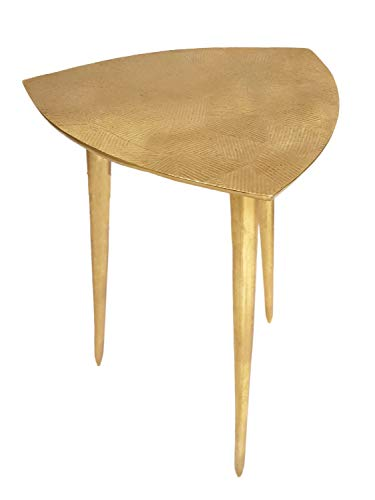 casamia Beistelltisch Metall Dekotisch Silber- oder Gold Alster 35x46x35 cm dreieckig klassisches Design Aluminium Farbe Gold