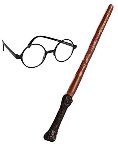 Rubie's Official, Paquete de Accesorios de Harry Potter, Varita y Gafas, el ambalaje puede variar