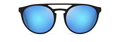 Maui Jim Ah Dang! Gafas de sol ojo de gato, azul (Mate negro/azul Hawaii Polarizado), Medium