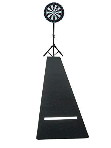 Dart komplett Set Winmau pro Steel Dart Board Dartscheibe Dartständer Dartteppich Oche