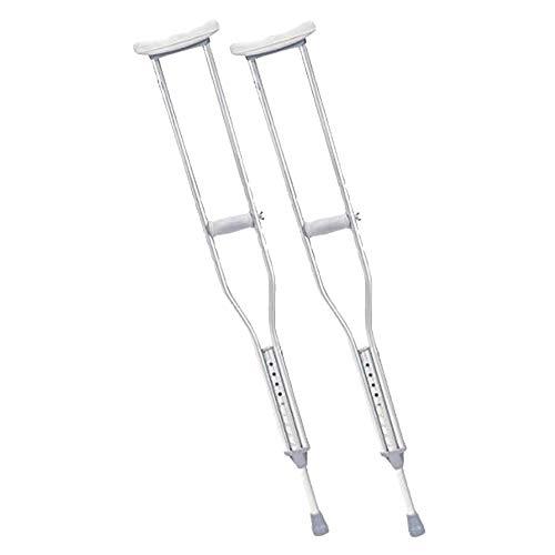 DOBO Coppie stampelle sottoascellari per deambulazione ascella impugnatura ergonomica antiscivolo regolabile asta alluminio regolabile in altezza punta antiscivolo