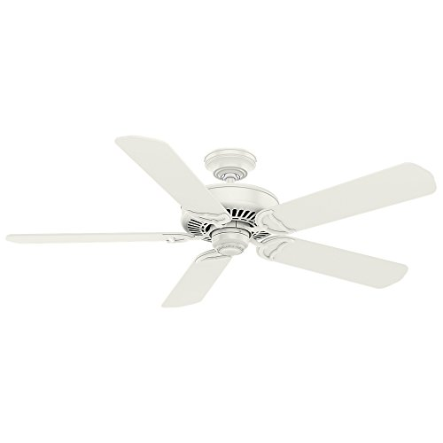 Casablanca Indoor Ceiling Fan, with wall control - Panama 54 inch, White, 55068