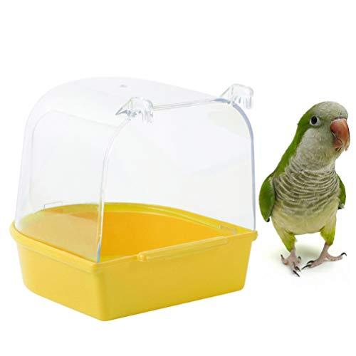 POPETPOP Baño para Pájaros para Jaula Bañera para Pájaros Colgantes Lavabo a Prueba de Salpicaduras a Prueba de Salpicaduras para Loros Periquitos Periquitos
